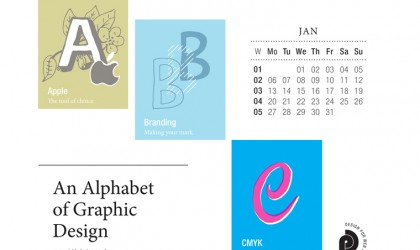 Download the month of January from our Alphabet of Graphic Design calendar for free for your mobile, tablet and desktop computer background