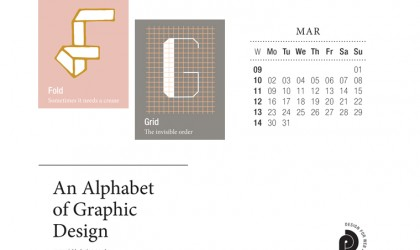 Download the month of March from our Alphabet of Graphic Design calendar for free for your mobile, tablet and desktop computer background