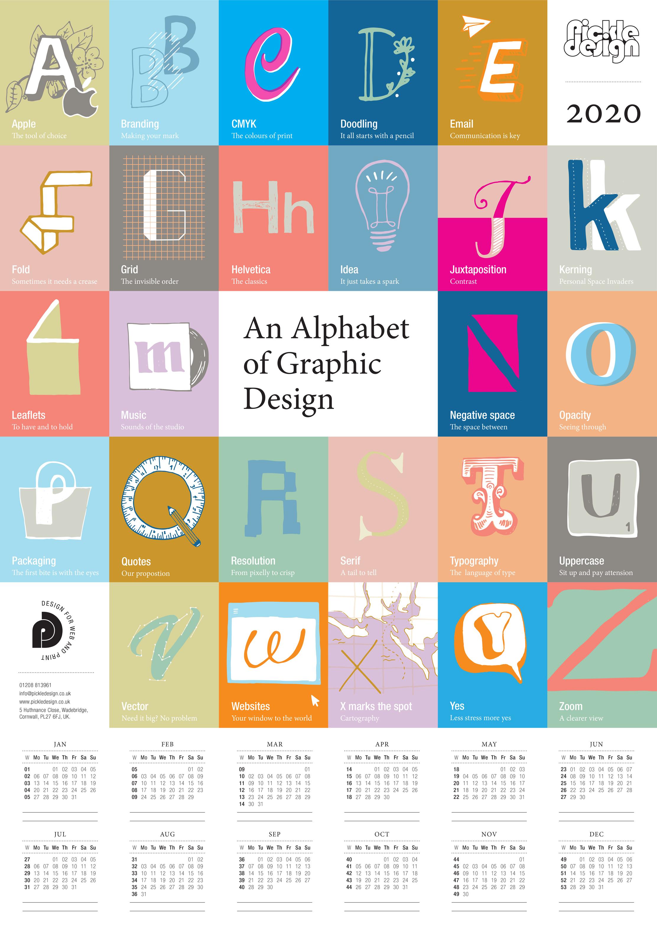 An Alphabet of Graphic Design poster