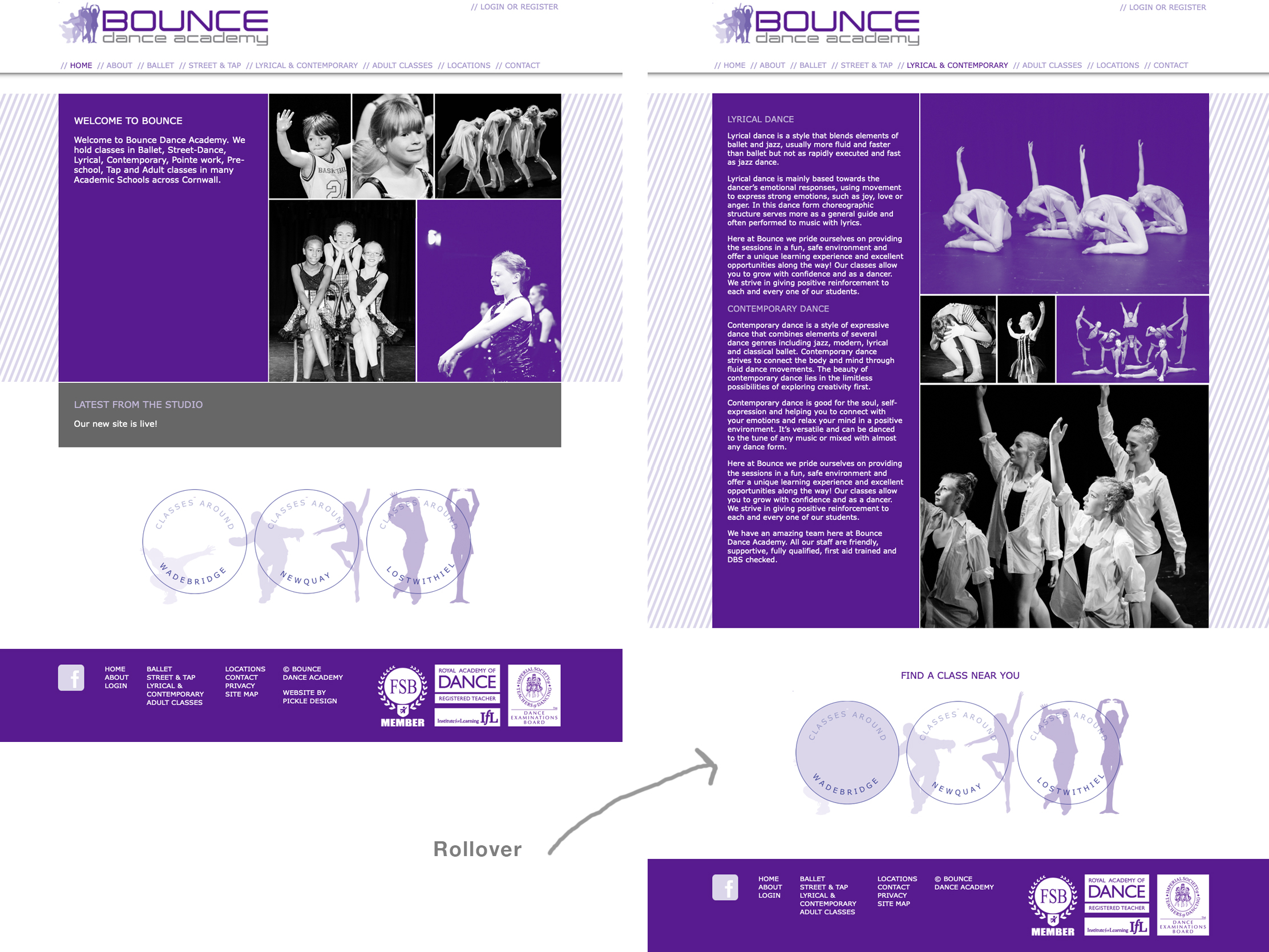 Bounce Dance Academy Website