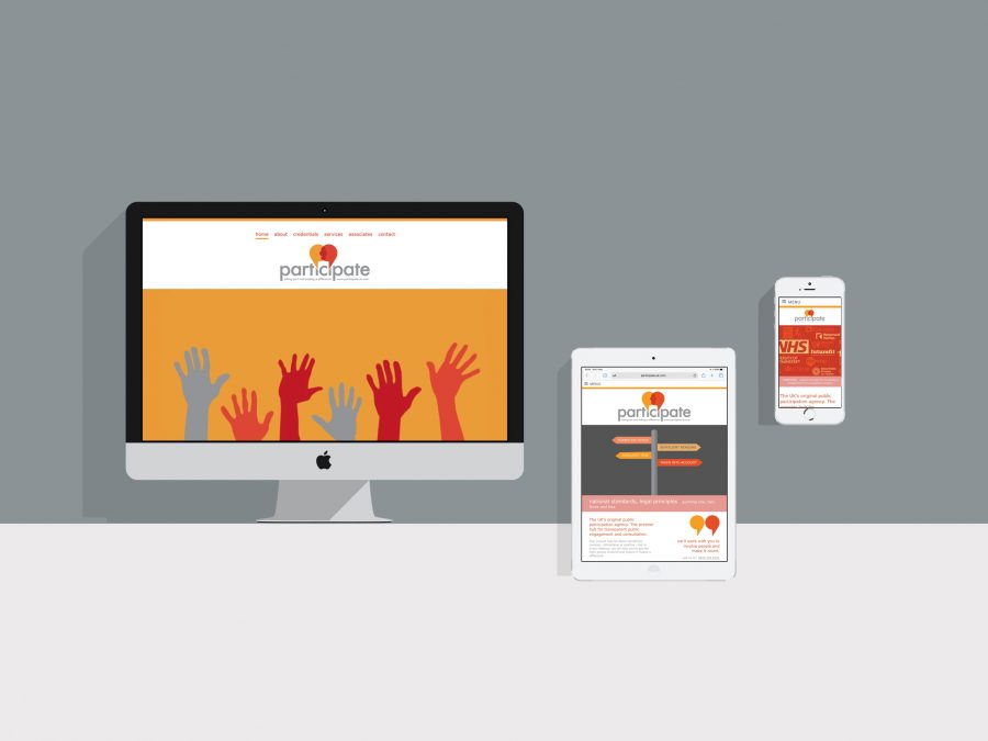 mobile friendly web design for Participate