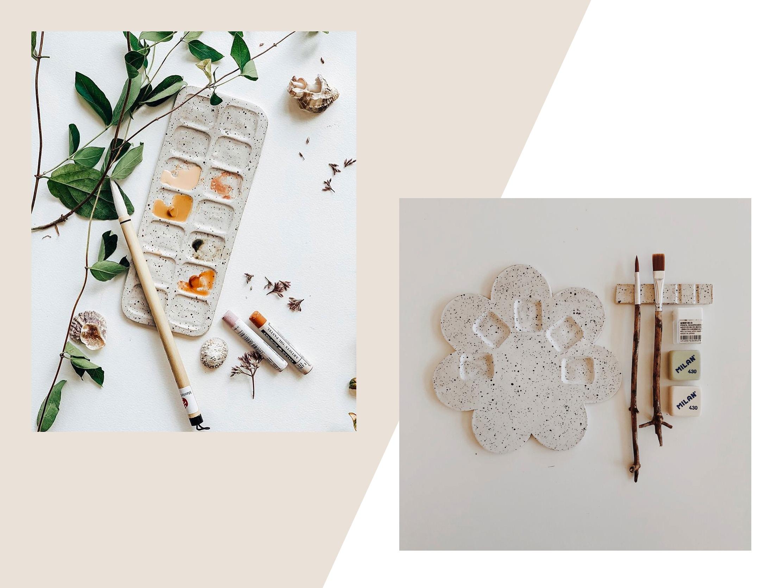 Ceramic artist palettes
