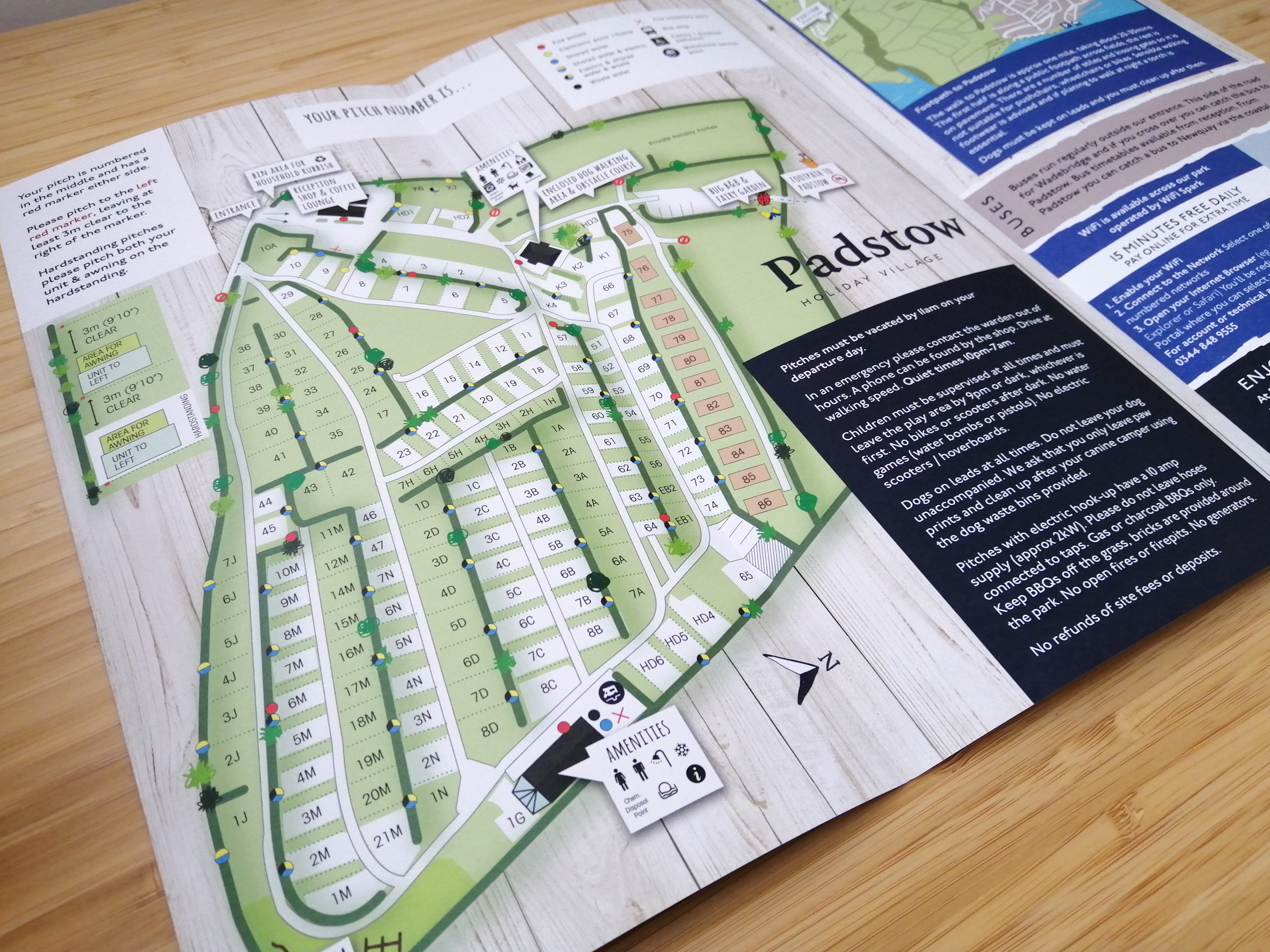 Padstow Holiday Village Map Welcome Leaflet