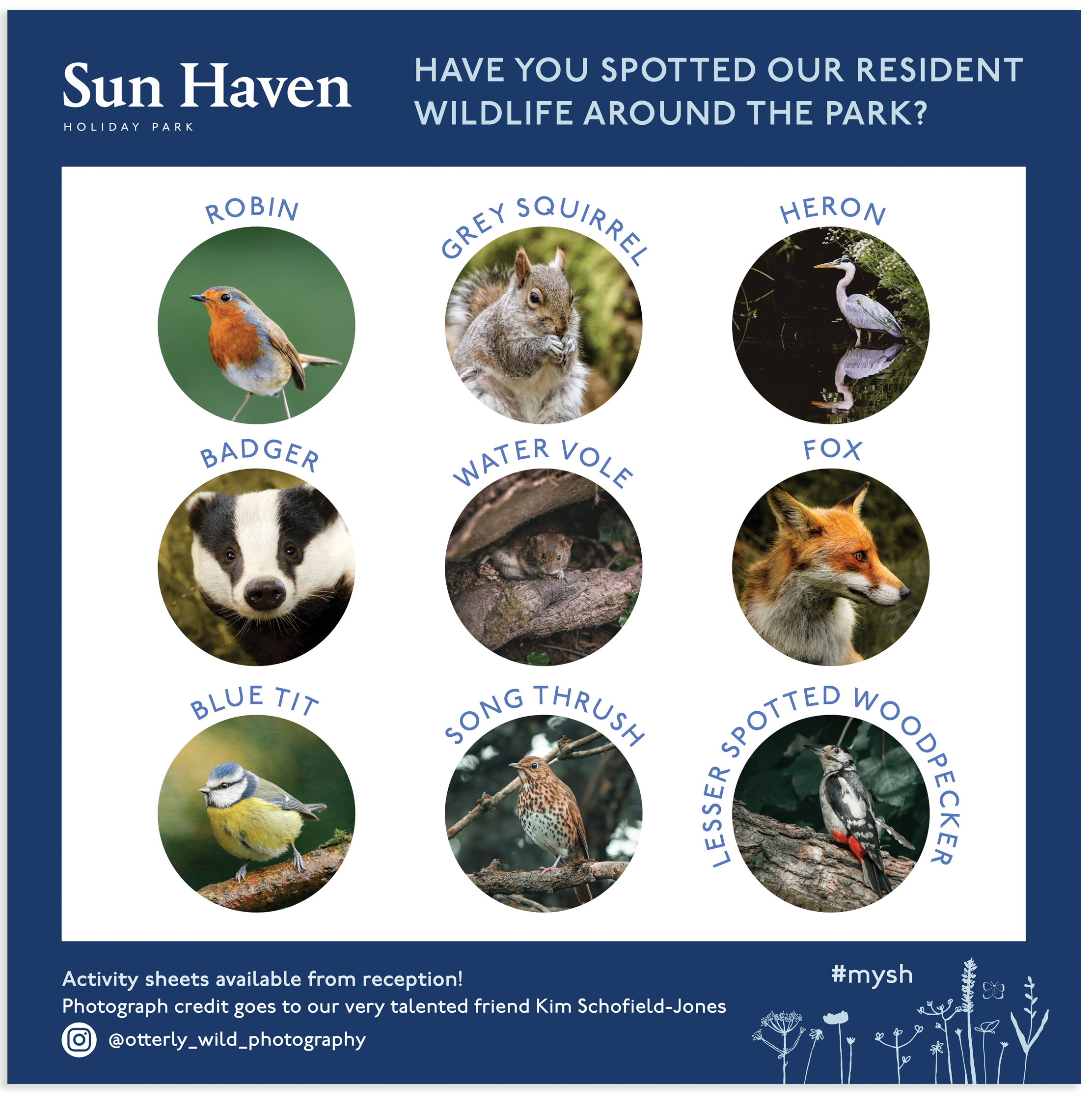 Wildlife Sign for Sun Haven Holiday Park