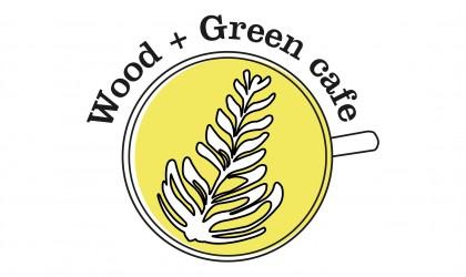 Wood & Green Cafe logo design