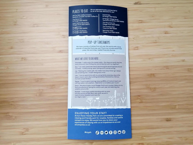Sun Haven welcome leaflet back