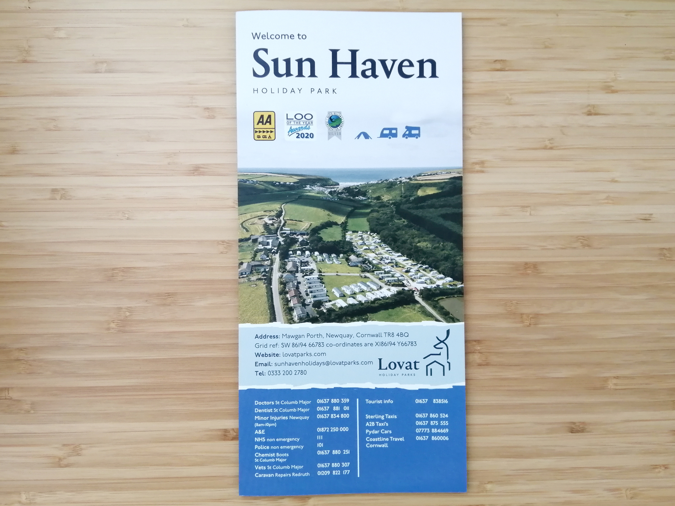 Sun Haven welcome leaflet cover