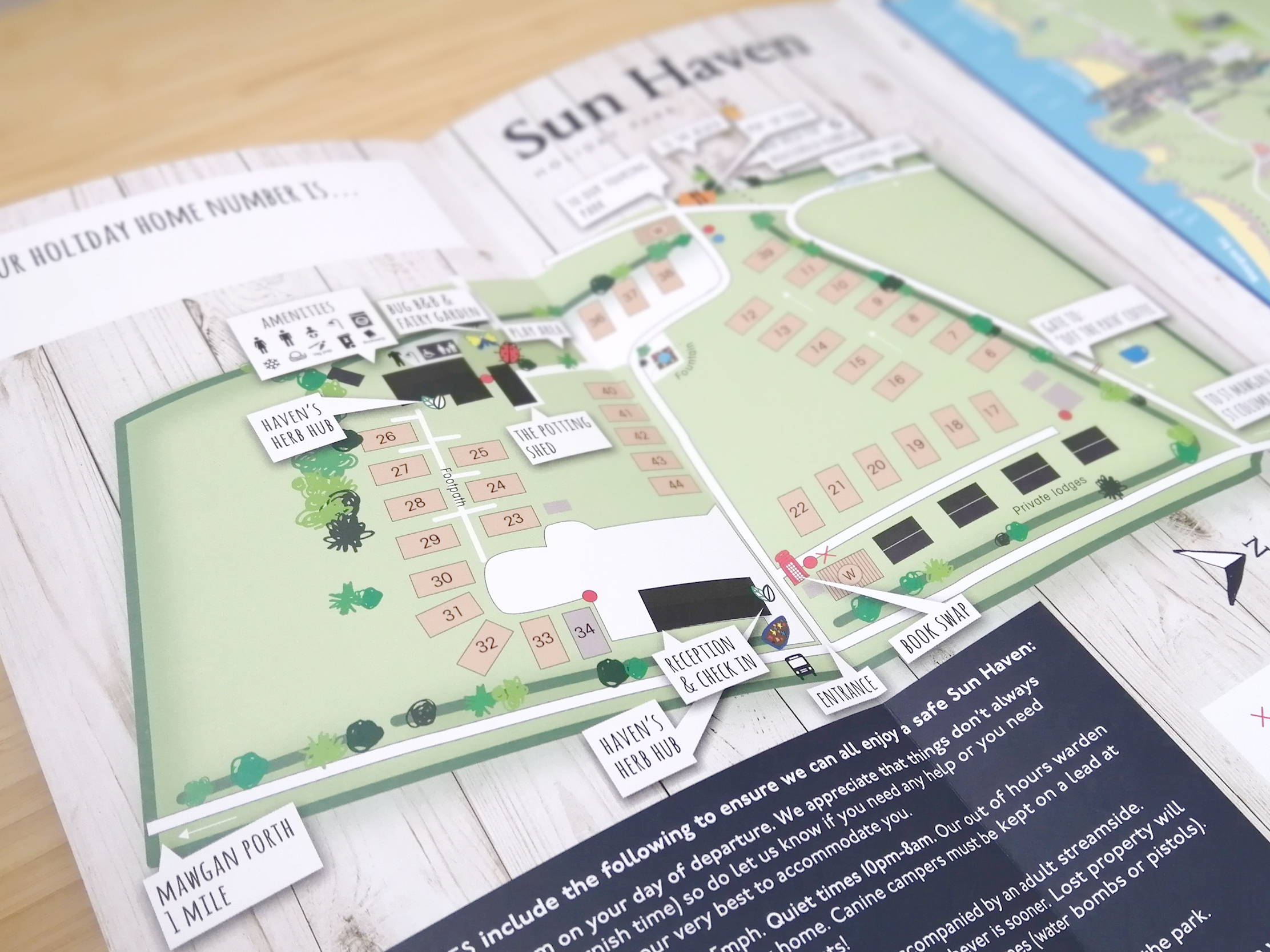 Sun Haven holiday home map leaflet
