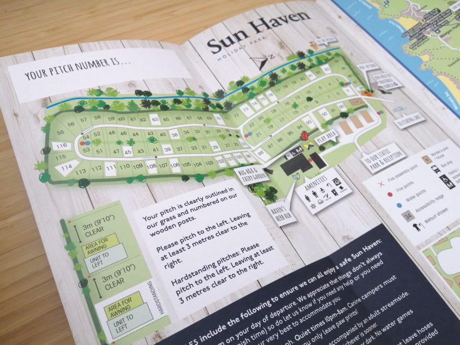 Sun Haven touring map leaflet