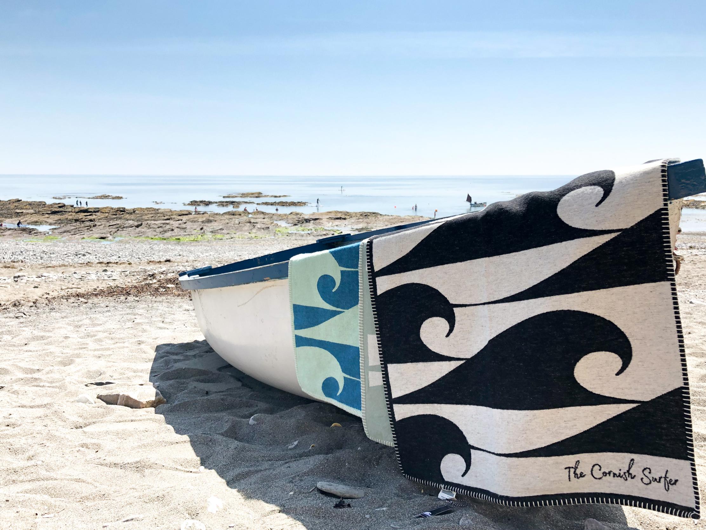 The Cornish Surfer baby blankets