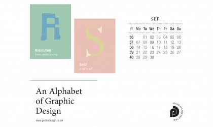 Download the month of September from our Alphabet of Graphic Design calendar for free for your mobile, tablet and desktop computer background