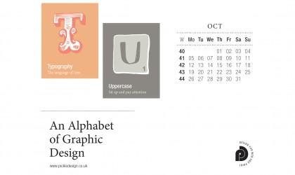 Download the month of October from our Alphabet of Graphic Design calendar for free for your mobile, tablet and desktop computer background