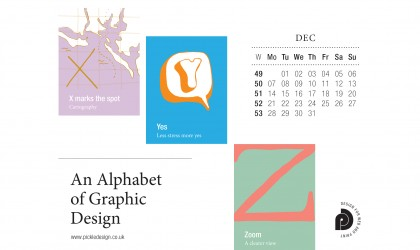 Download the month of December from our Alphabet of Graphic Design calendar for free for your mobile, tablet and desktop computer background