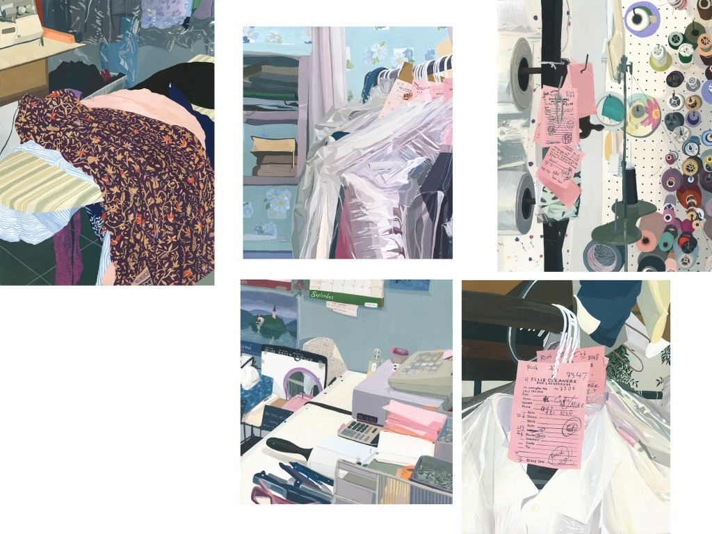 Paintings of the everyday at the dry cleaners