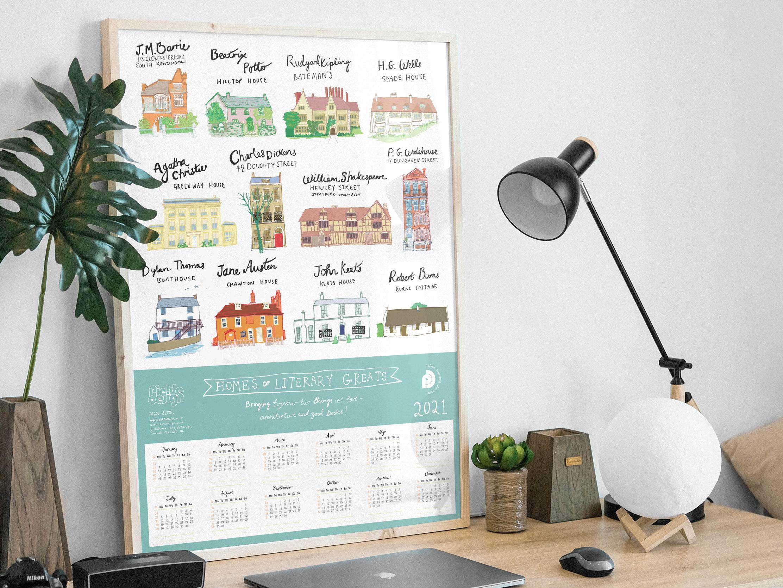 Pickle Design Poster Calendar 2021