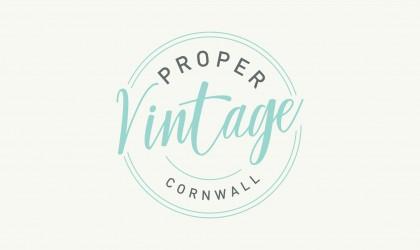 Proper Vintage logo design