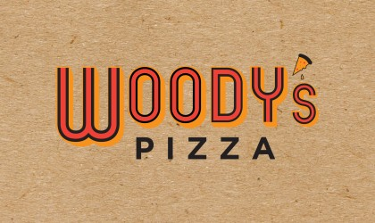 Logo design for Woody's Pizza