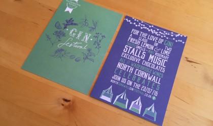 Wadebridge Wines Gin Festival postcards