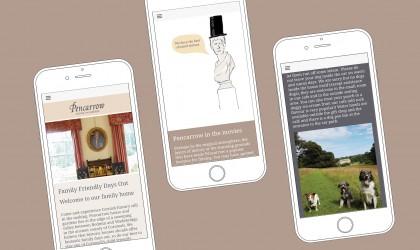 Mobile friendly website design for Pencarrow