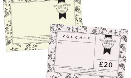 Wadebridge Wines complement slip and voucher