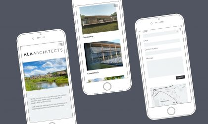 Responsive website design for ALA Architects