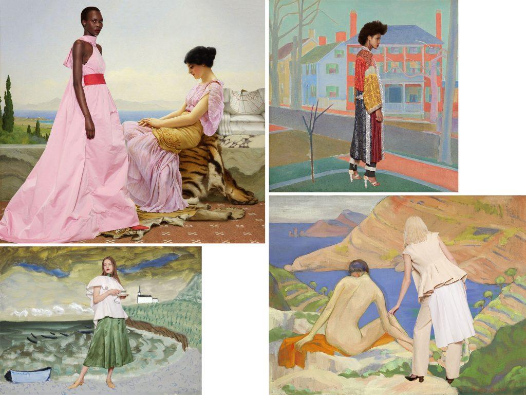 Fashion pieces set inside artworks