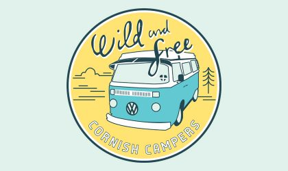 Logo design for Wild & Free Cornish Campers