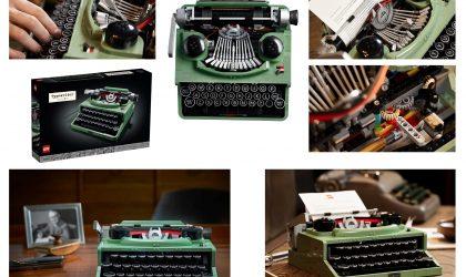 Lego mid-century modern typewriter