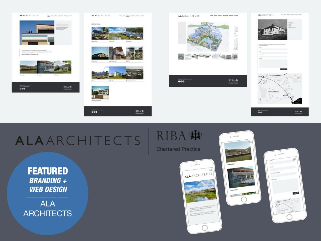 Branding and web design for ALA Architects
