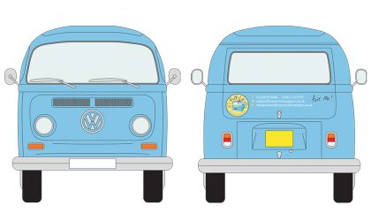 Vehicle livery for the Wild & Free VW camper